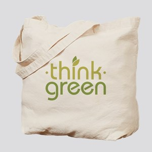 Think Green [text] Tote Bag